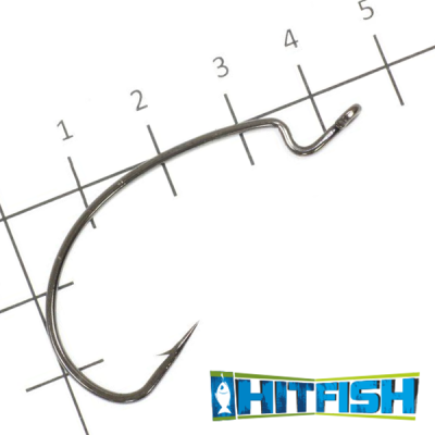 LW Power Offset Hook Офсетные крючки Hitfish LW Power Offset Hook #2/0 (8шт в уп)