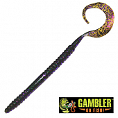 Ribbon Tail 10'' Мягкие приманки Gambler Ribbon Tail 10'' #Pepper Grass (10 шт в уп)