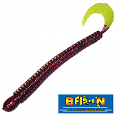 Ringworm 4'' Мягкие приманки B Fish & Tackle Ringworm 4'' #Fire-n-Ice/Chart Tail (12 шт в уп)