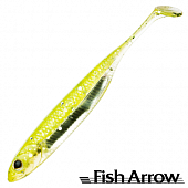 Flash J Shad 4'' Мягкие приманки Fish Arrow Flash J Shad 4'' #19 Chart Silver (6 шт в уп)