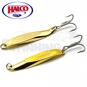 Блесна колебалка Halco Twisty 90mm/70gr #gold plate