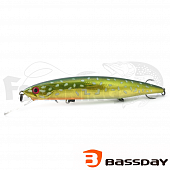 Воблер Bassday Mogul Minnow 130SP 22,6gr #FL-901 Chameleon Pike - купить в Москве