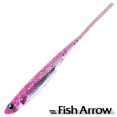 Flash J 1,5'' Slim SW Мягкие приманки Fish Arrow Flash J 1,5'' Slim SW #101 Pink/Silver (5 шт в уп)