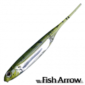 Flash J 5'' Мягкие приманки Fish Arrow Flash J 5'' #02 WM/Silver (4 шт в уп)