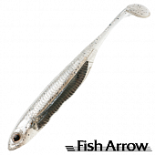 Flash J Shad 3'' SW Мягкие приманки Fish Arrow Flash J Shad 3'' SW #100 Shirasu/Silver (5 шт в уп)