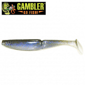 Big EZ Мягкие приманки Gambler Big EZ 5'' #Electric One (5 шт в уп)