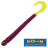 Ringworm 4'' Мягкие приманки B Fish & Tackle Ringworm 4'' #Purple Chartreuse Tail (12 шт в уп)