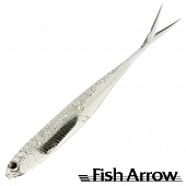 Flash J Split 4'' SW Мягкие приманки Fish Arrow Flash J Split 4'' SW #111 Clear Holo/Silver (5 шт в уп)
