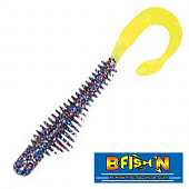 Moxi Ringie 4'' Мягкие приманки B Fish & Tackle Moxi Ringie 4'' #Firecracker/Chart tail (8 шт в уп)