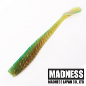 Bakuree Tail 86mm Мягкие приманки Madness Bakuree Tail 86mm #Amber Green (5 шт в уп)