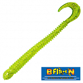 Ringworm 4'' Мягкие приманки B Fish & Tackle Ringworm 4'' #Chartreuse Silver White Core (12 шт в уп)
