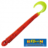 Ringworm 4'' Мягкие приманки B Fish & Tackle Ringworm 4'' #Catalpa Orange Chart Tail (12 шт в уп)