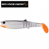 LB Cannibal Shad 100mm/9gr Мягкие приманки Savage Gear LB Cannibal Shad 100mm/9gr #033 White & Black (1шт в уп)
