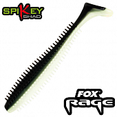 Rage Spikey Shad 3,5''/90mm Мягкие приманки Fox Rage Spikey Shad Bulk 3,5''/90mm #Black N White (1 шт в уп)