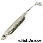 Flash J Shad 3'' SW Мягкие приманки Fish Arrow Flash J Shad 3'' SW #111 Clear Holo/Silver (5 шт в уп)