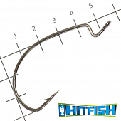LW Power Offset Hook Офсетные крючки Hitfish LW Power Offset Hook #5/0 (5шт в уп)